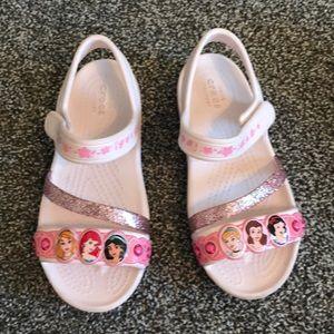 Girls Disney Princess Crocs size 12